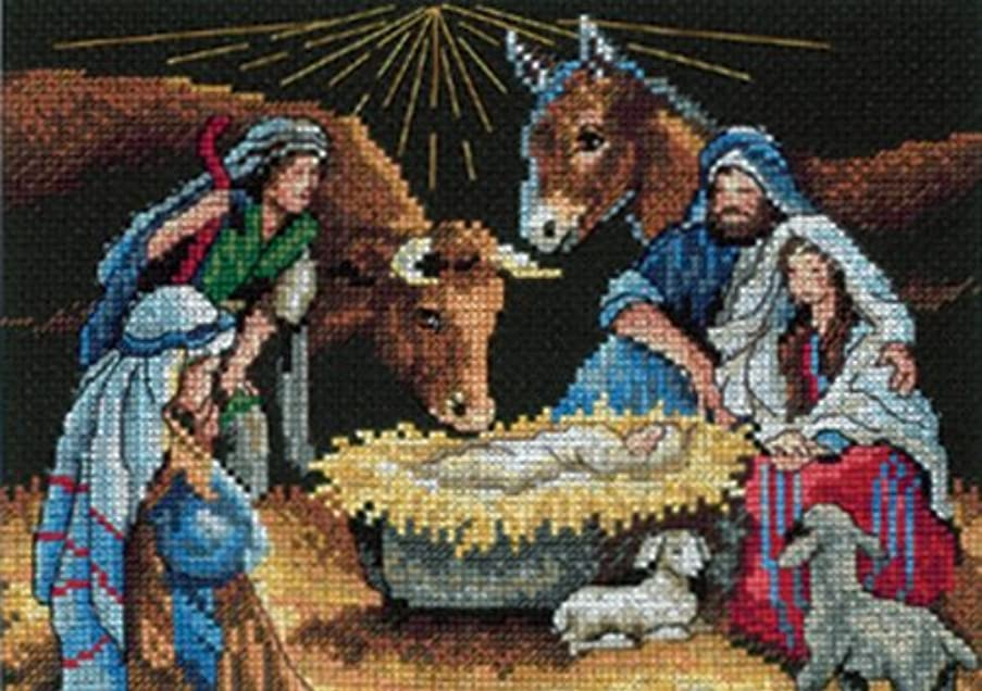 Gold Collection Petites Holy Night Counted Cross Stitch Kit 7