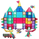 Manve Magnetic Building Blocks Tiles Toy, Magnet Toys 130 Pcs STEM...