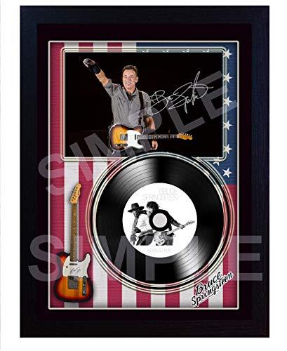SGH SERVICES Bruce Springsteen Born to Run Autogrammkarte, gerahmt