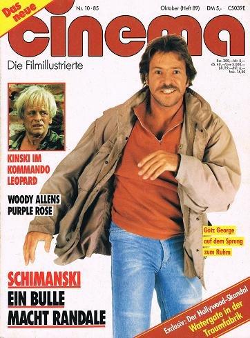 Cinema 1985 Nr.10 (Heft 89) , (Götz George als Schimanski Cover)