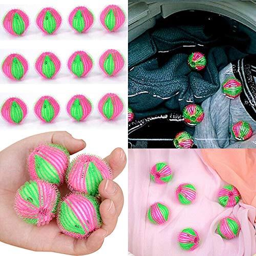 12 Stücke Wiederverwendbare Trockner Bälle Haarentfernung Wäschekugel Kleidung Körperpflege Haar Ball Reinigungskugel Haartrockner Waschbälle für Wäsche, Waschmaschine (12PC)