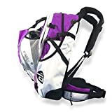 Cádomotus Airflow Sportrucksack 30+15L - Fahrrad Rucksack - MTB Rucksack - Schlittschuhtasche - Inlineskates Rucksack - Ultraleicht - mit Rückenbelüftung, Helmfach, Schuhfach - - Lila
