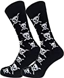 Mens Halloween 2018 Skull and Crossbones Pattern Socks - Perfect for Halloween costumes