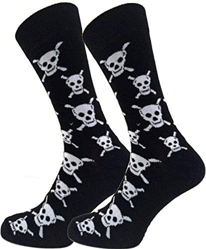 Macachel Herren Knöchel Skull Socken EUR 39-45.