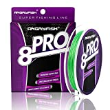 ANGRYFISH 8-PRO Braided Fishing Line - Extra Thin Diameter-Proprietary Weaving Tech- Exceptional...