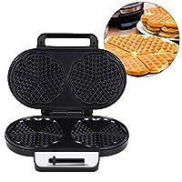 Macchina per cialde a doppia testa, macchina per torte 220-240v, macchina per waffle rapida, macchina per dolci multifunzione da cucina utensile per(European regulations)