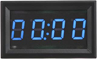 Car Electronic Clock - LED Electronic Digital Luminous Car Watch Clock Accessory Decoration (Red, Green, Blue) (Color : Blue)