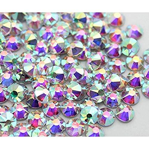 Rhinestone Iron On Hotfix Deluxe Crystal Transparent- Crystal AB, SS 04 a 40 para tejidos y decoración, Diamante, Rhinestones SS 20 100pz Crystal Ab