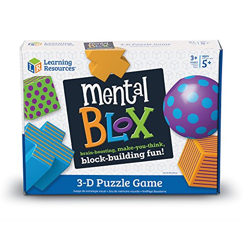 51DziQSYUkL - Learning Resources Mental Blox Critical Thinking Game, Homeschool, Easter Basket Game, 20 Blocks, 20 Activity Cards, Ages 5+