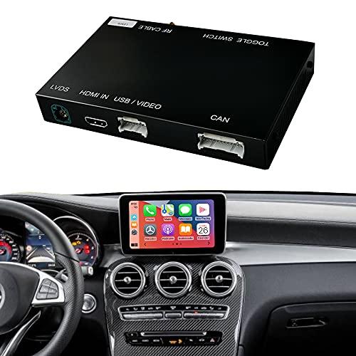 Road Top Wireless Carplay Android Auto Nachrüstsatz Decoder für Mercedes Benz NTG5.0 C Klasse W205 GLC Klasse C350E, GLC250, GLC300, C63 AMG 2015-2018 Jahr Auto