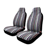 2 Pc Universal Baja Inca Saddle Mexican Blanket Front Seat Covers Pair High Back Bucket Seats