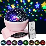Aisuo Lighting Lamp, Star Projection with Auto Shut Off Timer, 7 Color Rotating Options by Remote, Rechargeable Lithium Battery & Dimmable Function, Ideal Gift for Kids, Children, Friends.