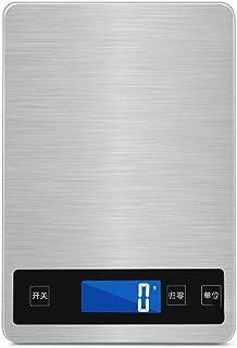 Básculas Balanza de Cocina electrónica de bicarbonato de Herramientas doméstica pequeña Comida Escalas de Carga de pesaje de precisión de calorías Resistente al Agua con un Peso Cocina