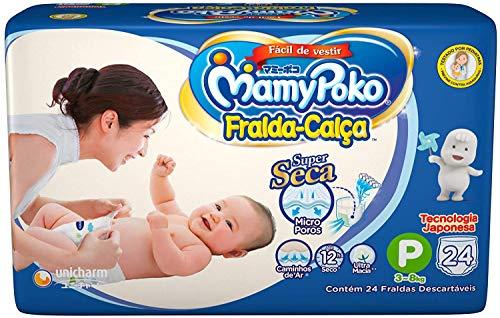 Fralda-Calça MamyPoko Tamanho P, 24 unidades