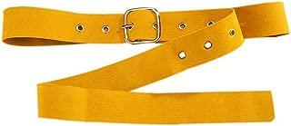 Woolen Pin Buckle Belt Women's Dress Shirt Clothes Decorative Waist Belt, Yellow