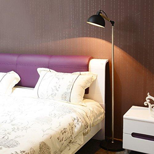 The harvest season- Amerikanische Stil Stehleuchte Schlafzimmer Studie moderne einfache LED Eye Drop Lampe / E27 A+ (Farbe : SCHWARZ)