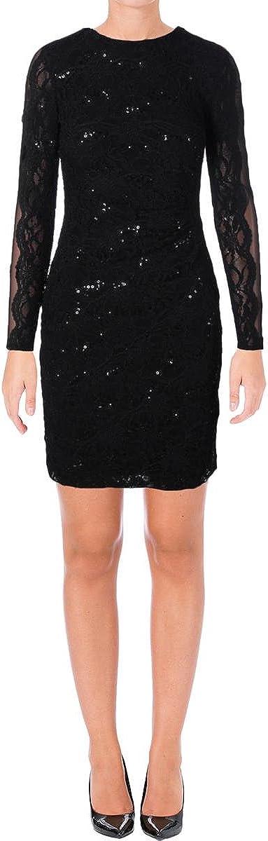 Lauren Ralph Lauren Women's Sequined Lace Dress
