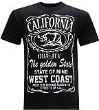 California Republic West Coast Men's T-Shirt - (Large) - Black