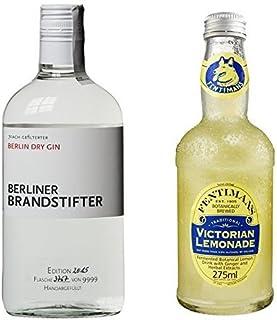 Berliner Brandstifter Dry Gin 1 x 0.7 l mit Fentimans Victorian Lemonade, 12er Pack 12 x 275 ml