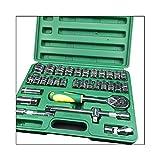 DUTUI Kit de reparación de coche caja de herramientas de reparación de coche, un juego de 32 llaves de trinquete de 24 dientes caja negra, herramientas de reparación de automóviles de acero al carbono