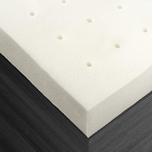 Premium Ventilated 2 Inch Memory Foam Mattress Bed Topper Pad,Queen , 3 Year Guarantee