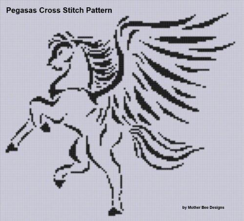 Pegasus Cross Stitch Pattern (English Edition)