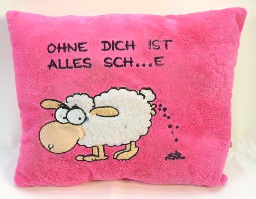 Kissen -Jan das Schaf... ohne dich ist alles sch.....e