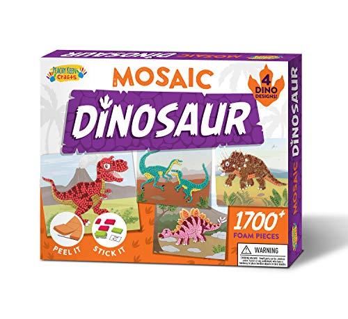Dinosaur Sticker Mosaic Kit - Makes 4 Mosaic Arts and Crafts