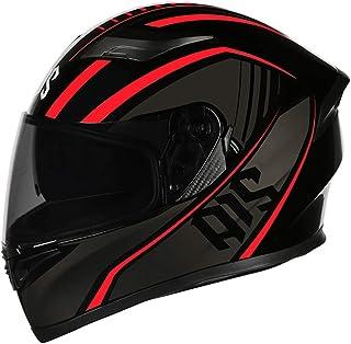 X.N.S(希望)新品出荷 多色可選 R1-802 バイクヘルメット フルフェイス ヘルメット ダブルシールド (L, 赤夢)