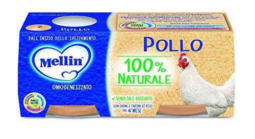 Mellin Omogeneizzato di Pollo 100% Naturale – 24 Vasetti da 80 gr