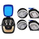 FENGCLOCK Limpiador ultrasónico Digital, con Soporte para Reloj y Canasta de Limpieza para Gafas Relojes de joyería Limpiador ultrasónico de Acero Inoxidable