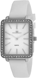Oceanaut Women's Stainless Steel Quartz Rubber Strap, White, 16 Casual Watch (Model: OC0272)