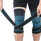 Beister 1 par de rodilleras de compresión con correas ajustables para hombres y mujeres