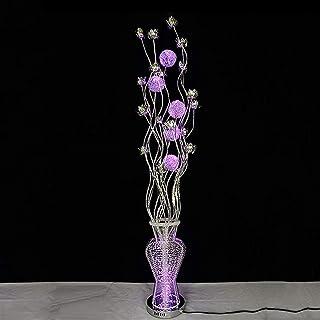 Lampe de sol LED moderne en forme de fleur pour salon, chambre à coucher, restaurant, couleur changeante avec télécommande...