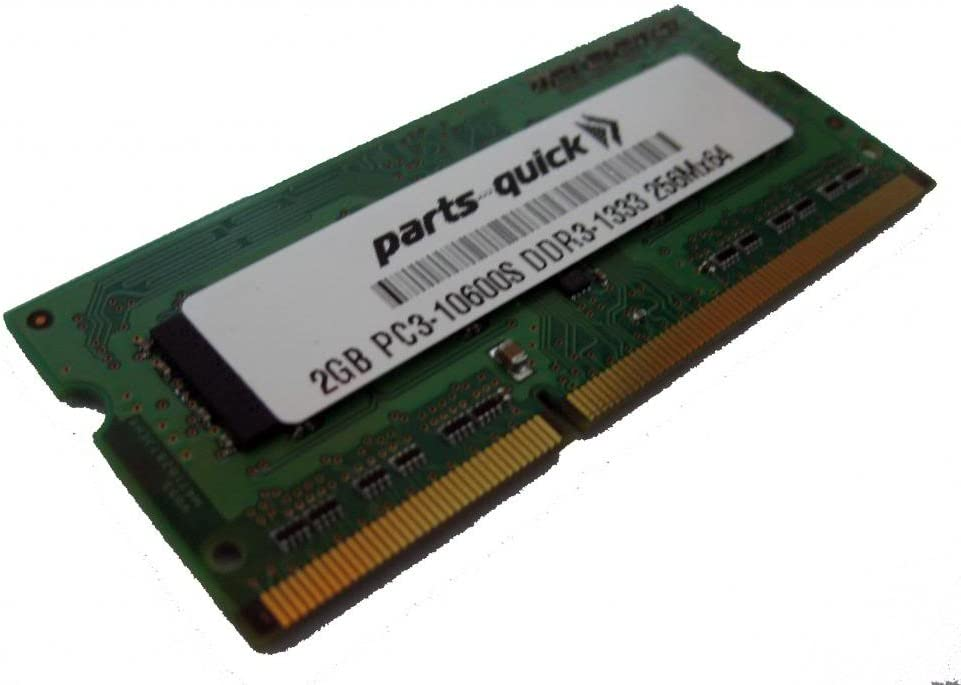 2GB Memory for Dell Inspiron N5110 DDR3 PC3-10600 SODIMM RAM (PARTS-QUICK Brand)