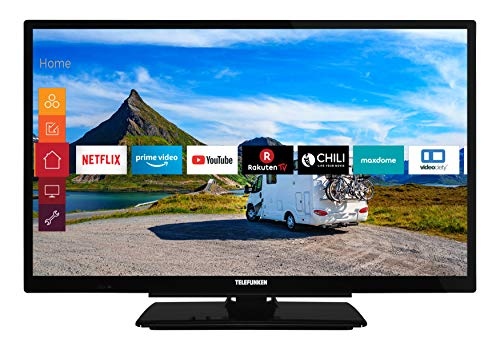 Telefunken XF22G501V 55 cm (22 Zoll) Fernseher (Full HD, Triple Tuner, Smart TV, Prime Video, 12 V, Works with Alexa) (Elektronik)