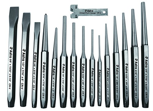 Astro Pneumatic Tool 1600 16-Piece Punch and Chisel Set
