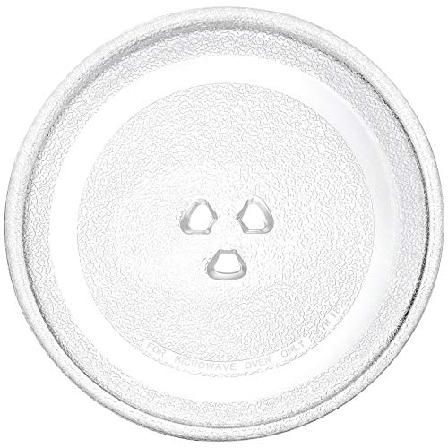 Replacement Glass Plate for Small Microwaves, 9.6'' / 24.5cm Turntable Tray Clear