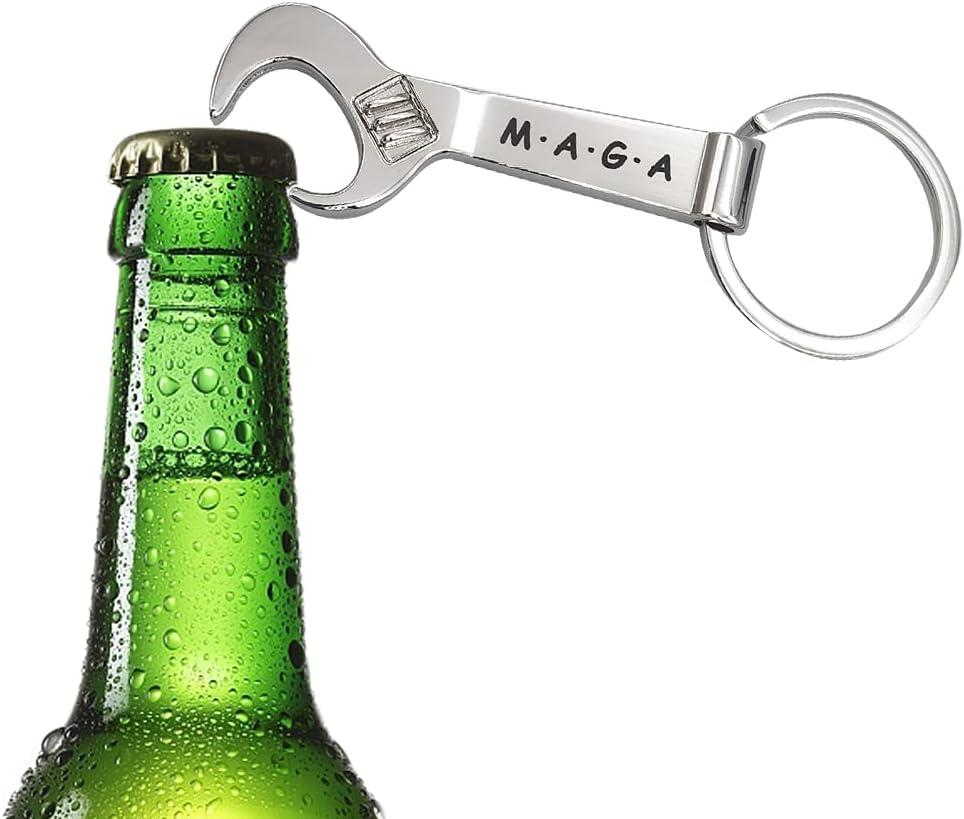 MINI Spanner Bottle Opener Key ring Metal Wrench pendant novel gift for boy friend family 2PCS