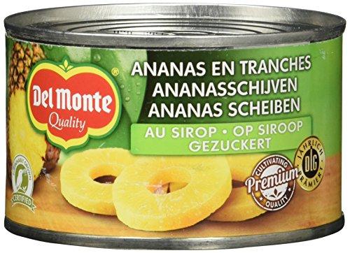 Del Monte Ananasscheiben gezuckert, 12er Pack (12 x 236 ml Dose)