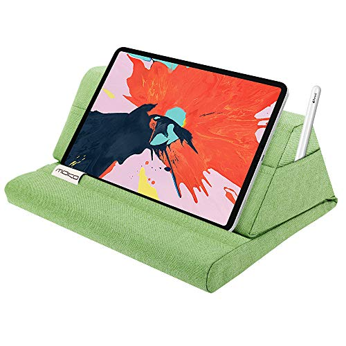 MoKo Tablet Pillow Stand, Soft Bed Pillow Holder, Fits up to 11' Pad, Fit with iPad 10.2' 2019, New iPad Air 3 2, iPad Pro 11 2020/10.5/9.7, Mini 5 4 3, Samsung Galaxy Tab, Mint Green