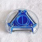 YQWFF Piel Vegetal Rest Acero Inoxidable Julian Peel triturador de Patata trituradora trituradora trituradora trituradora trituradora trituradora de trituradora de trituradora 3 en 1 Azul