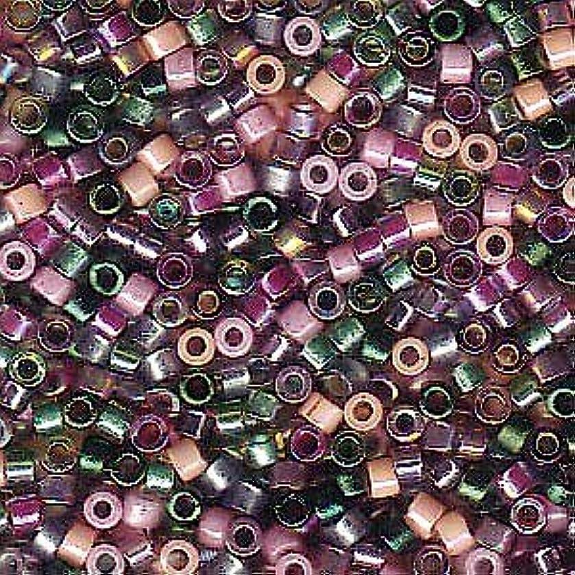 Miyuki Delica Seed Beads Mix Lot 11/0 Lavender Garden Pink Green 7.2 GR