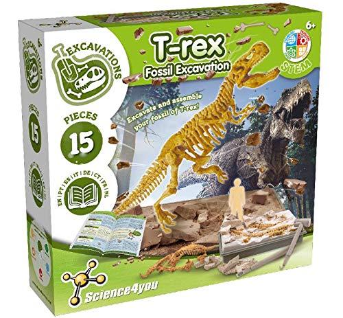 Science4You - T-Rex Fossil Excavation - Giocattolo Scientifico ed Educativo per Bambini...