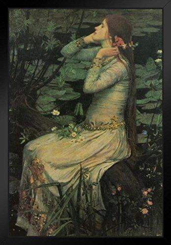 John William Waterhouse Ophelia Gemälde Shakespeares Hamlet Poster, 30,5 x 45,7 cm Framed in Black Wood 14x20 inch Mehrfarbig / 5801