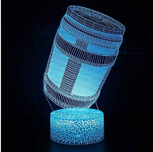 Beleuchtung 3D Illusion LED Lampe Festung Nacht Energy Drink Design Nachtlichter für Kinder Schlafzimmer Dekoration