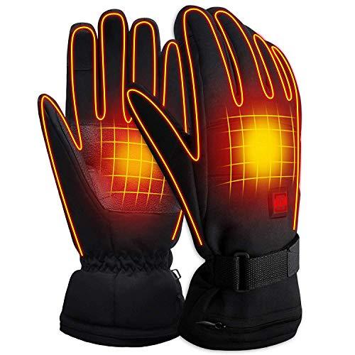 Svpro Beheizte Handschuhe Wiederaufladbare batteriebetriebene,beheizte Handschuhe Männer Frauen Elektrische Thermohandschuhe Winter Warm...