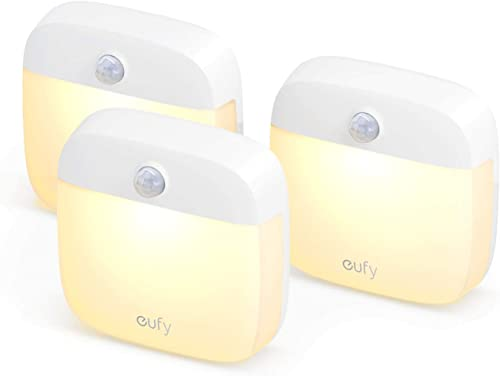 high quality eufy by Anker, Lumi Stick-On Night Light, 2nd Generation Warm White LED, Motion Sensor, Bedroom, Bathroom, sale Kitchen, Hallway, Stairs, Energy outlet online sale Efficient, Compact, 3-Pack online