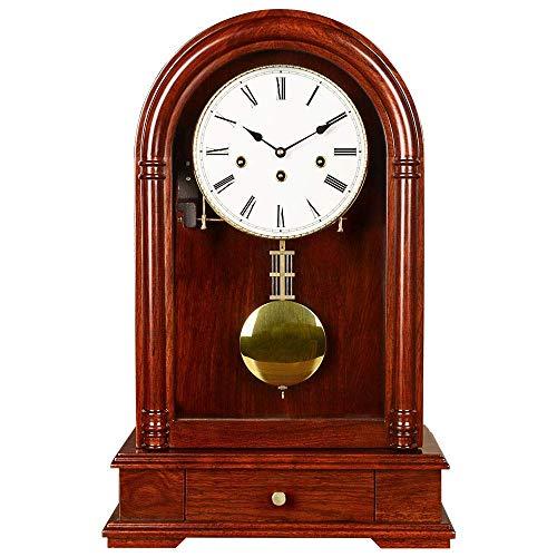 Reloj de manto nórdico de alta gama, reloj de chimenea con reloj de cajón de péndulo Reloj de la campanilla por hora de la campaña de madera Reloj de la unidad de reloj de la unidad de reloj de la uni