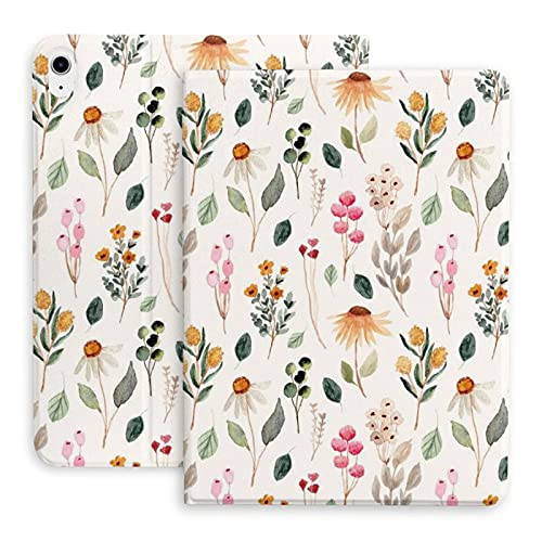 Floral Botanical Watercolor Wildflower Etsy The protective case is suitable for iPad Air 4th generation. Stand case